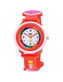 Montre pédagogique QBOS Princesse avec bracelet silicone rouge 4500025-003 QBOSS 19,90€