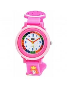 Montre pédagogique QBOS Princesse avec bracelet silicone rose 4500025-004 QBOSS 19,90€