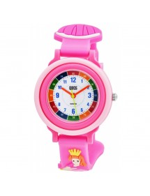 QBOS Princess educational watch with pink silicone strap 4500025-004 QBOSS 19,90 €