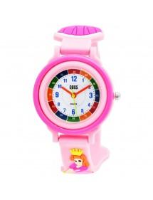 Montre pédagogique QBOS Princesse avec bracelet silicone rose pâle 4500025-001 QBOSS 19,90€