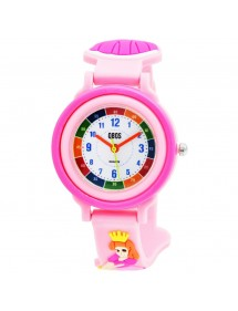 QBOS Princess educational watch with light pink silicone strap 4500025-001 QBOSS 19,95 €