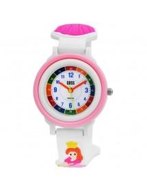 Montre pédagogique QBOS Princesse avec bracelet silicone blanc 4500025-002 QBOSS 19,90€