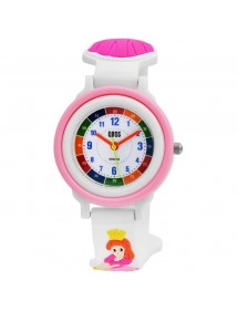 QBOS Princess educational watch with white silicone strap 4500025-002 QBOSS 19,90 €