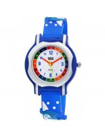 Montre pédagogique QBOS dauphin bracelet en silicone bleu foncé 4500024-001 QBOSS 19,90€