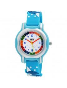 Montre pédagogique QBOS dauphin bracelet en silicone bleu lagon 4500024-002 QBOSS 19,90€