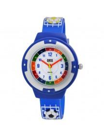 Montre pédagogique QBOS Football bracelet en silicone bleu foncé 4500022-001 QBOSS 19,90€