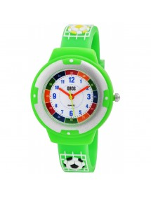 Football QBOS watch, light green silicone strap 4500022-004 QBOSS 19,90 €