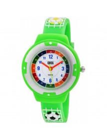 Montre pédagogique QBOS Football bracelet en silicone vert clair 4500022-004 QBOSS 19,90€
