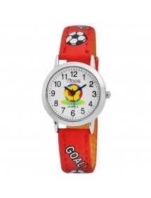 Football QBOS watch with red leather strap 4900001-005 QBOSS 22,00 €