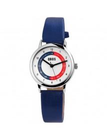 Montre pédagogique QBOS bracelet en similicuir bleu foncé 4900003-002 QBOSS 15,00€
