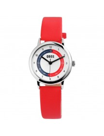 QBOS educational watch red leatherette strap 4900003-001 QBOSS 15,00€