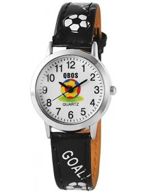 Football QBOS watch with black leather strap 4900001-001 QBOSS 22,00 €