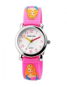 Montre Princesse Excellanc avec bracelet en silicone rose 4500019-001 Excellanc 24,00€