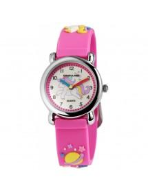 Montre Poney Excellanc avec bracelet en silicone rose 4500006-001 Excellanc 24,00€