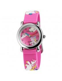 Montre Poney Excellanc ecran rose et bracelet en silicone rose 4500005-002 Excellanc 24,00€