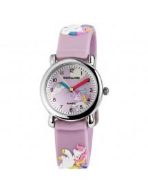Montre Poney Excellanc ecran violet et bracelet en silicone violet 4500005-003 Excellanc 24,00€
