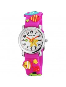Excellanc fish watch purple silicone strap 4200005-003 Excellanc 19,90 €