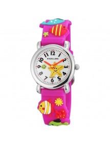 Montre Poissons Excellanc bracelet en silicone violet 4200005-003 Excellanc 24,00€