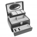 Bovine leather jewelery boxes