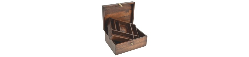 Coffres à bijoux en bois